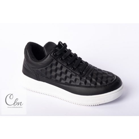 KID fekete szilikonos cipőfűző 10 db
