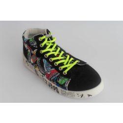 SPANDEX GREEN rugalmas cipőfűző fémcsavaros