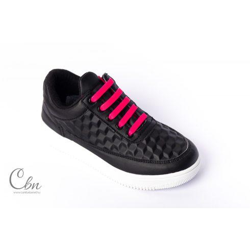 KID neon pink szilikonos cipőfűző 10 db