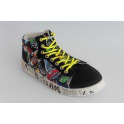 SPANDEX YELLOW rugalmas cipőfűző fémcsavaros