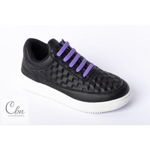 KID lila szilikonos cipőfűző 10 db