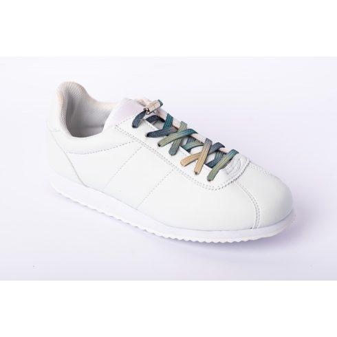 Glami zöld rugalmas cipőfűző ezüst fémcsavaros