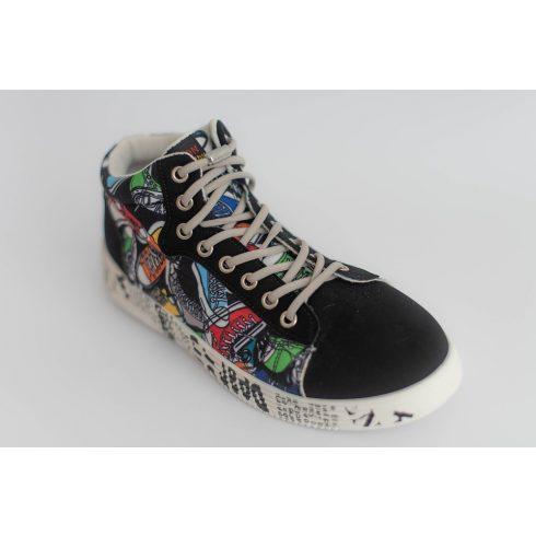 Spandex galambszürke rugalmas cipőfűző fémcsavaros