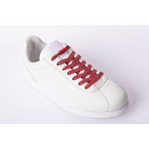 Glami piros rugalmas cipőfűző (piros fémcsavaros)