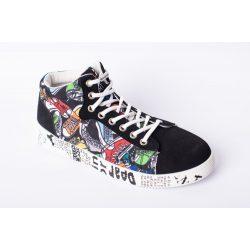 SPANDEX WHITE rugalmas cipőfűző fémcsavaros