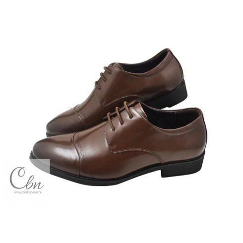 Leathershoes barna szilikon cipőfűző alkalmi cipőbe