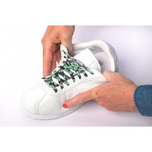 Camouflage zöld elasztikus cipőfűző