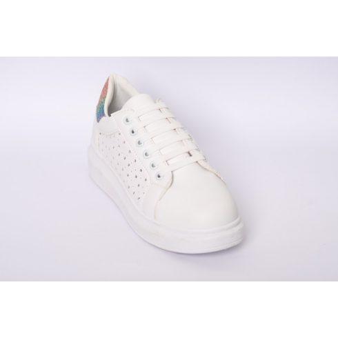 Flex fehér szilikonos cipőfűző