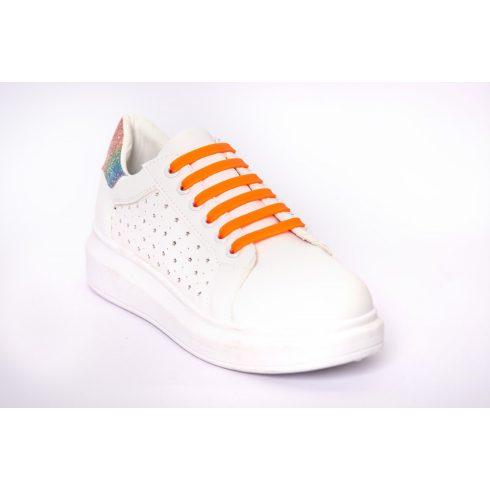 Flex narancs szilikonos cipőfűző