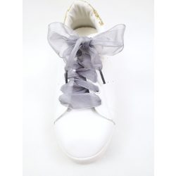 Organza cipőfűző ezüstszürke
